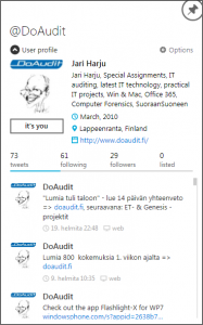 Windows 8 MetroTwit sovellus esimerkkinä