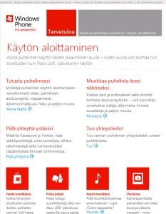 Windows Phone tervetuloa