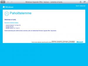 Windows 8 paivitystarjous ja sen katsominen iPad-Safari-yhdistelmalla
