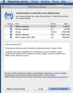 Mac OS X 10.7.4 kesäkuun 2012 ohjelmistopäivitys 1,9 Gt