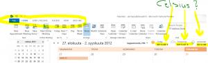 TIKKUKIRJAIMET ja Fahrenheit näkymä Outlook 2013