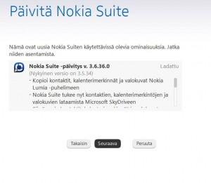 Nokia Suite paivitys ja Nokia Lumia - vihdoinkin