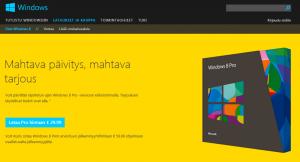 Windows 8 tarjous