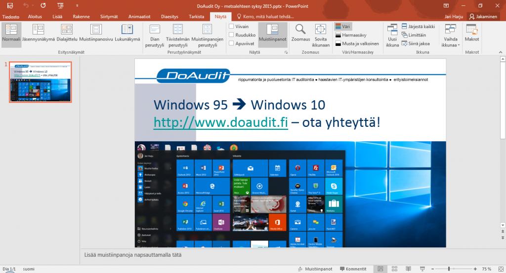 windows10-ja-Office-2016-esimerkkina-powerpoint2016