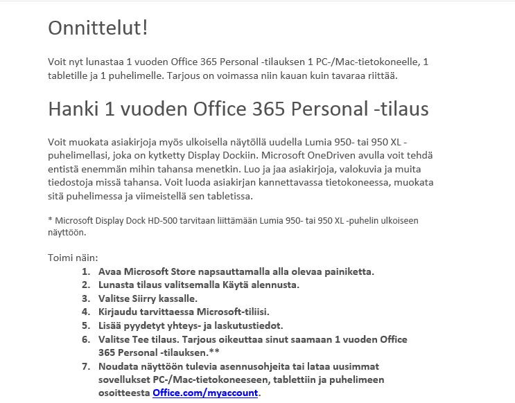 Lumia-950-offers-Office-365-personal-tilaus-vuodeksi