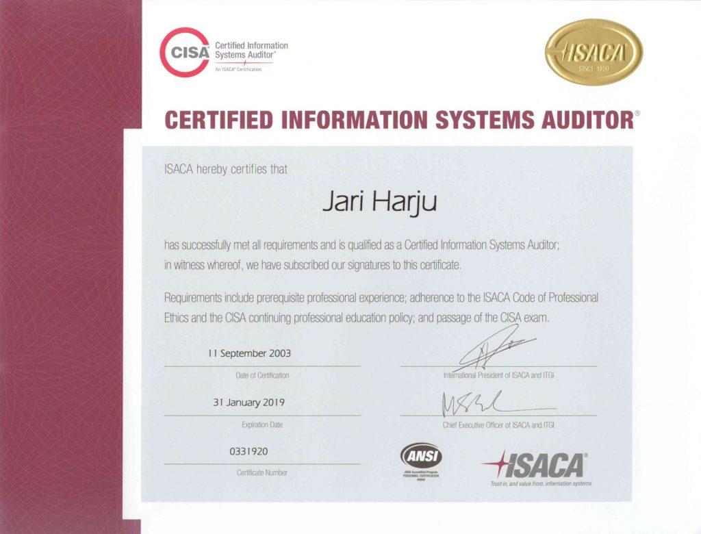 CISA-ISACA-2019