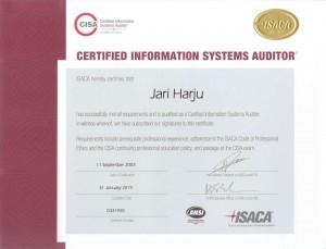 CISA-ISACA-2019-Jari-Harju