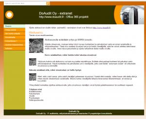 SharePoint Online WWW-sivuna