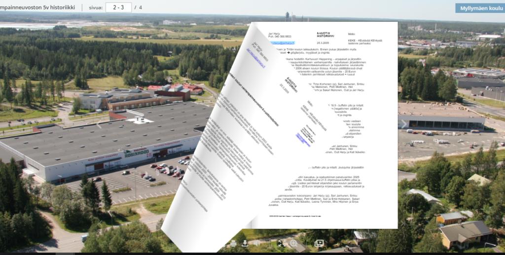 Myllymäen koulun 5v-historiikki (2009)