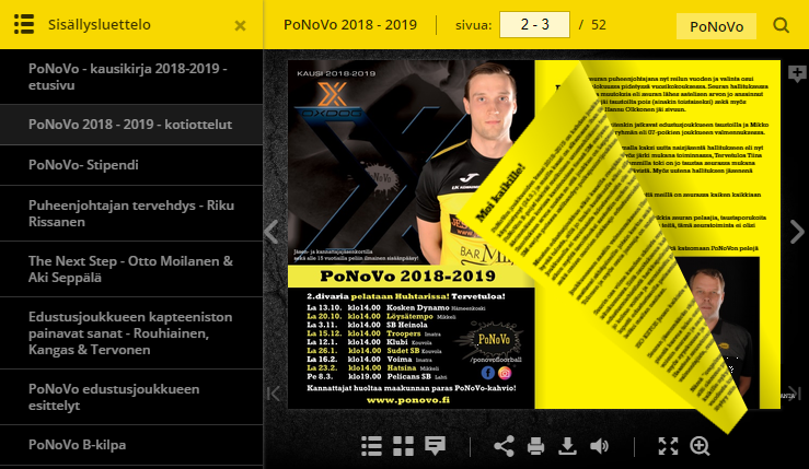 PoNoVo kausikirja 2018 – 2019