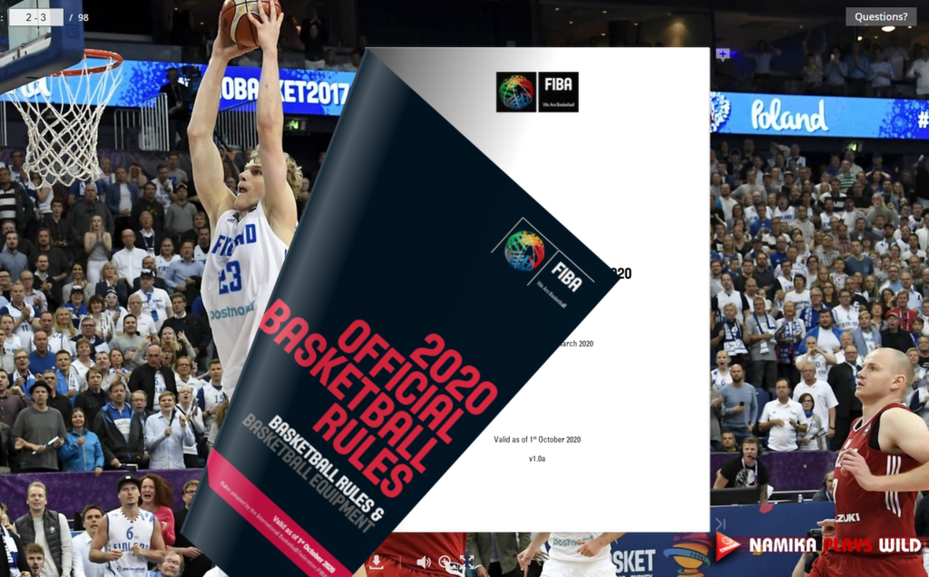FIBA Official basketball rules – updated version of 2020rules
