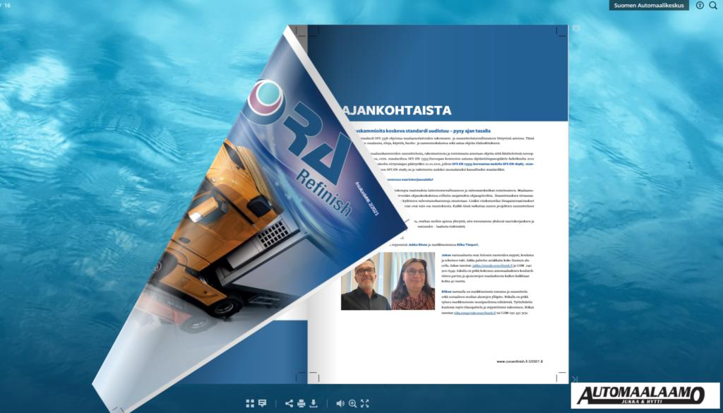 Automaalaamo Jukka &Hytti asiakaslehti 2/2021